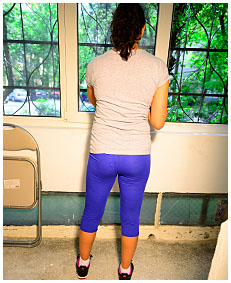 sara pisses her tights while cleaning the window 73