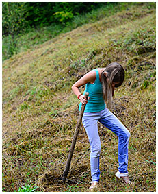 beatrice pisses her jeans gathering hay 03