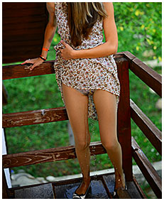 pantyhose pee disaster girl stuck onto balcony pisses herself wetting her nylons tights 04