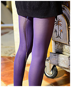 purple pantyhose dreched beatrice 05