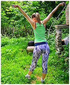 skipping rope damp tights situation with claudia 04