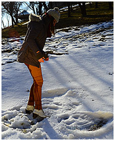 girl wetting herself in snow winter wetting her pants 00