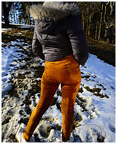 girl wetting herself in snow winter wetting her pants 02
