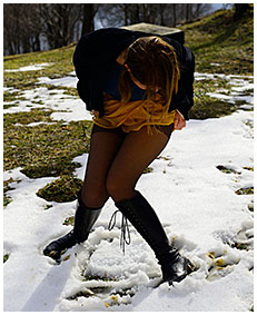pissing pantyhose in snow gemma 00