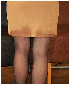 pissed her pantyhose sitting on chair 03