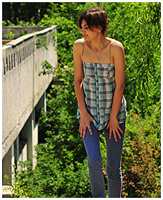 she is wetting her jeans 02