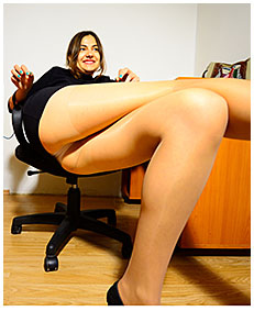 natalie the sexy assistant wearing pantyhose nylons pees herself at the office 03