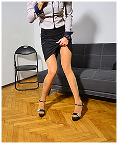 accidental release in pantyhose office olivia 04