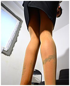 accidental release in pantyhose office olivia 05