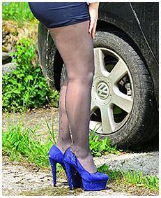 forgotten for hours in the car escort pisses her pantyhose 02