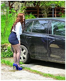 forgotten for hours in the car escort pisses her pantyhose 05