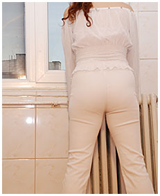 vintage laura wets white pants for you 00