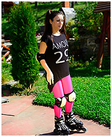 purple tights piss rollerblading girl wets her tights accident wetting 00