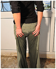 sexy girl pisses green army pants smoking 05