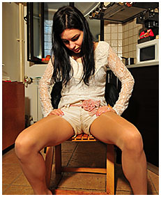 antonia pees jeans white shorts and lycra shiny pantyhose nylons 05