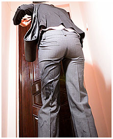 antonia wets business pants and pantyhose pissing herself business suit 59