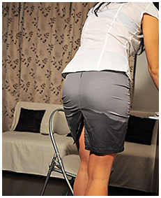 office assitant antonia pisses herself wetting her dress pantyhose piss 02