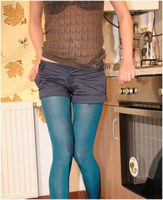 Alice wets her blue shorts and pantyhose [PART II]