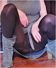 alice drunk wets 00000062 her brown pantyh