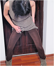 alice drunk wets 00000057 her brown pantyh