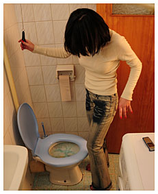 alice got too late to the toilet she filled her jeans with piss 7939