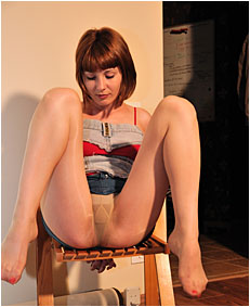 alice tied to a 00000041 chiar wets nylon