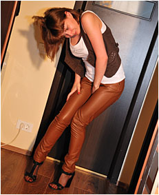 alice wetting  00000012 leather pants
