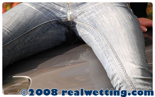 Alice wetting jeans on the hood of her car realwetting com video clips download