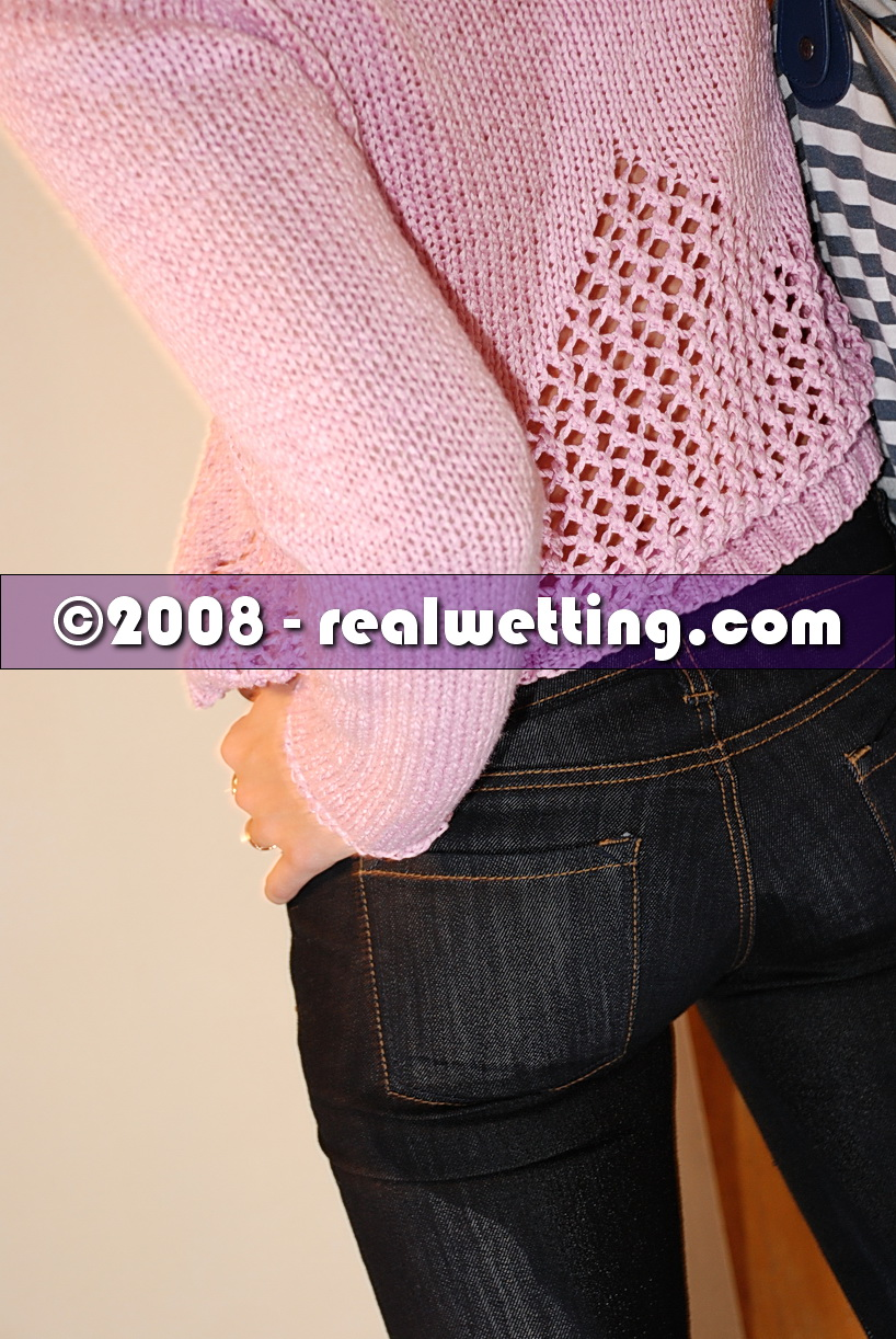 tight jeans pissing