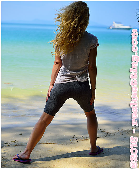 wetting while working out on the beach