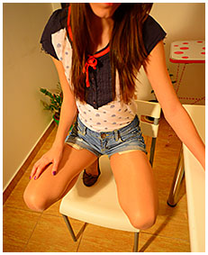 beatrice pisses herself while bored wetting jeans shorts and pantyhose 00