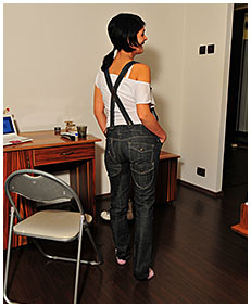 bianca is pissing herself wetting jeans overalls she pissed herself wetting her pants panties 00