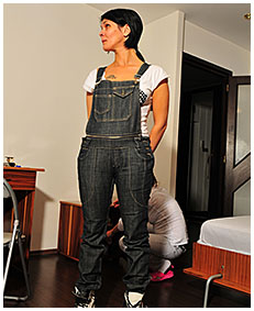 bianca is pissing herself wetting jeans overalls she pissed herself wetting her pants panties 05