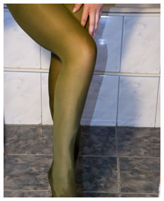 cute slut wets her pantyhose sexy
