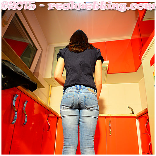 pissing jeans accident debbie tries to put the kettle on but pisses herself