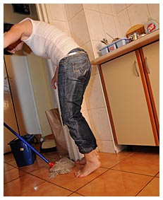 Meet Dee the pissy housekeeper as she wets jeans peeing herself