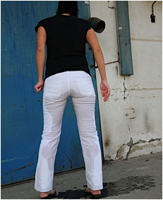 dee urinating in white pants sexy girl peeing her white pants 5