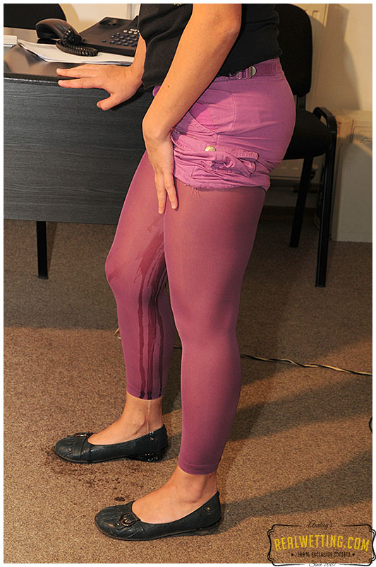Purple tights office assistant