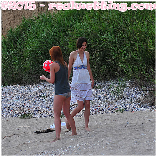 Sexy girls piss themselves on the beach wetting pants girl female desperation urinating their pants