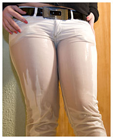 dominika wetting white jeans 022