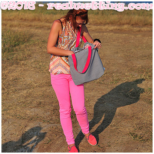 Dominika wets her pink pants trying to find a lighter