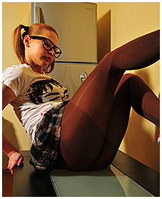 dominka pisses her pantyhose on the table playing wetting herself pissing her knickers 02