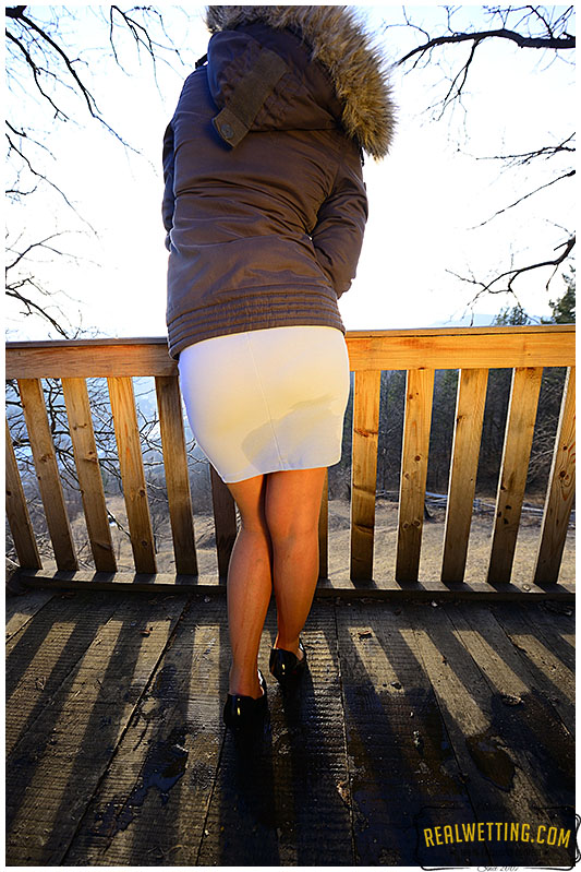 Pantyhose and skirt with Gemma!