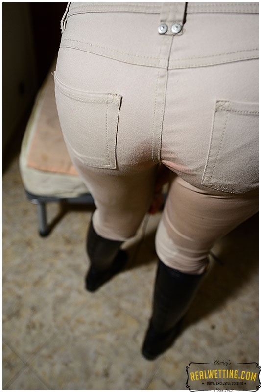 Riding outfit peeing