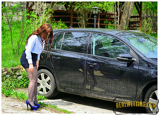 Georgia the escort is left for hours in the car she pisses herself outside