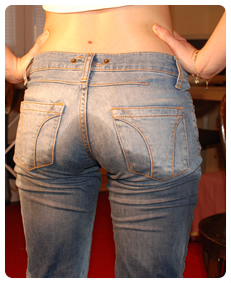 girl wetting her jeans desperate to pee