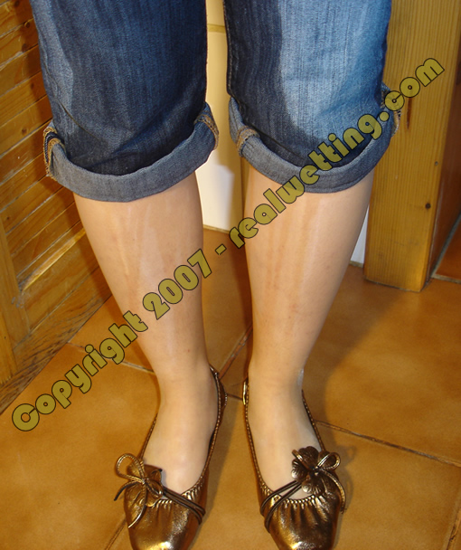 Pantyhose jeans wetting combo