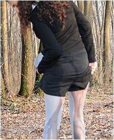 looking for a place to pee sara wets her pantyhose and shorts desperate to toilet 06