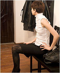 natalie pissing pattern pantyhose and miini skirt 0010