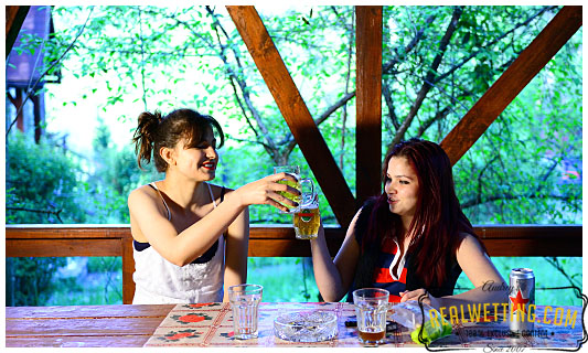 Natalie and Ruby have a drinking party that goes to piss, literally
